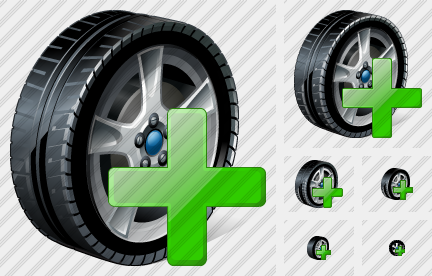 Car Wheel Add Icon