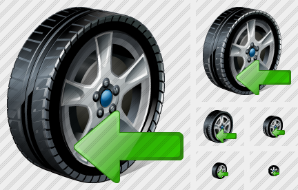 Car Wheel Import Icon