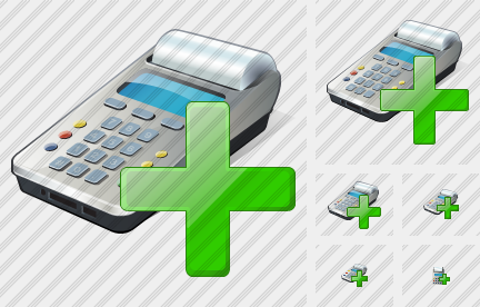 Cash Register Add Icon