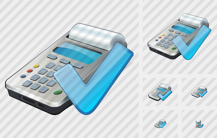 Cash Register Ok Icon