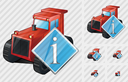 Catterpillar Tractor Info Icon