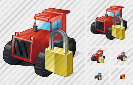 Catterpillar Tractor Locked Icon