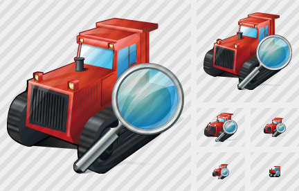 Catterpillar Tractor Search Icon