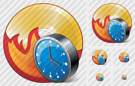 CD Burn Clock Icon