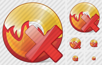 CD Burn Delete Icon