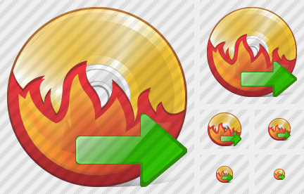 CD Burn Export Icon