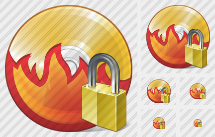 CD Burn Locked Icon