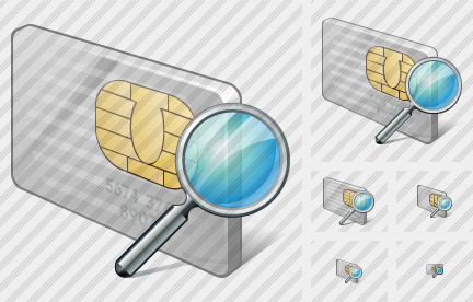 Chip Card Search Icon
