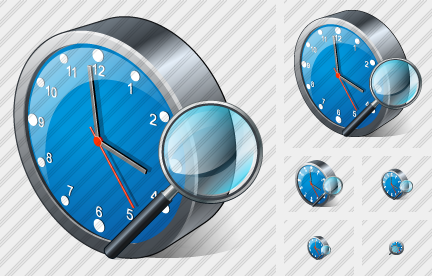 Clock Search 2 Icon
