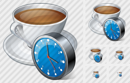 Coffee Cup Clock Icon