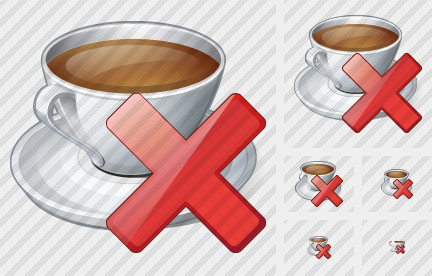 Coffee Cup Delete Icon