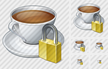 Coffee Cup Locked Icon