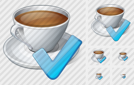Coffee Cup Ok Icon