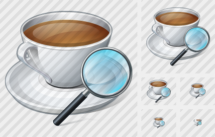 Coffee Cup Search 2 Icon
