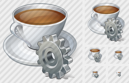 Coffee Cup Settings Icon