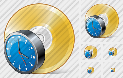 Compact Disk Clock Icon