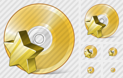 Compact Disk Favorite Icon