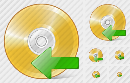 Compact Disk Import Symbol