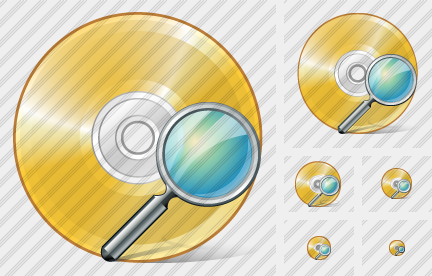 Compact Disk Search Icon