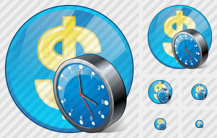 Company Business Clock Icon