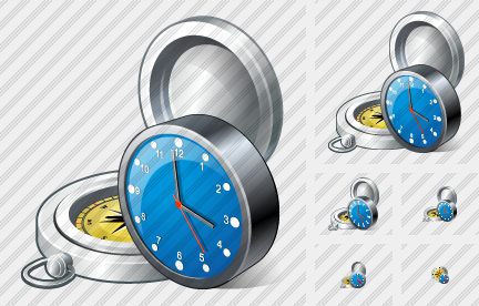 Compass Clock Icon