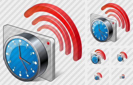 Contactless Chip Card Clock Icon