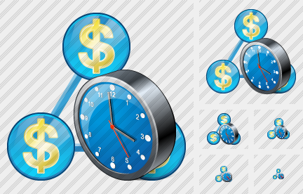 Country Business Clock Icon