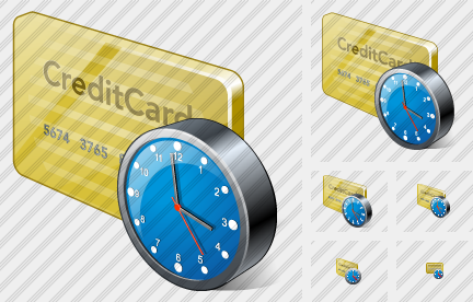 Credit Card Clock Icon