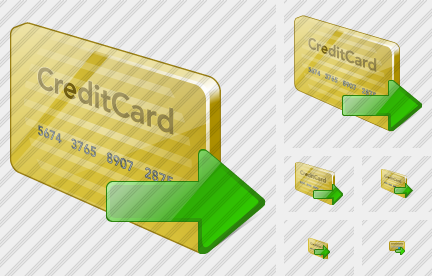 Credit Card Export Icon