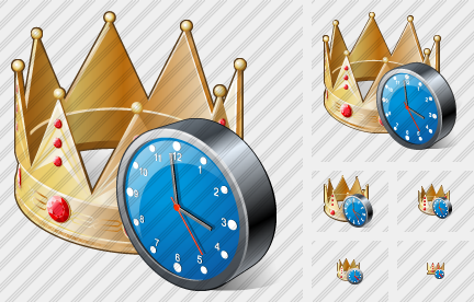 Crown Clock Icon