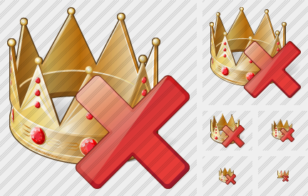 Crown Delete Icon