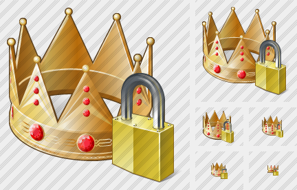Crown Locked Icon