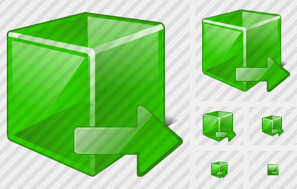 Cube Export Icon