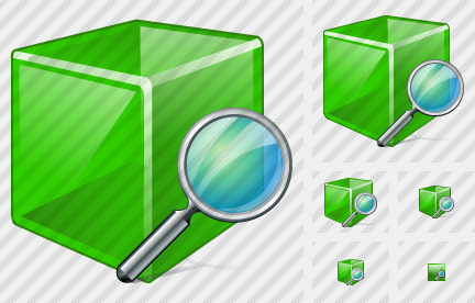 Cube Search Icon