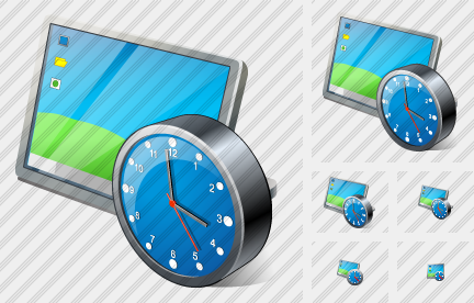 Desktop Clock Icon