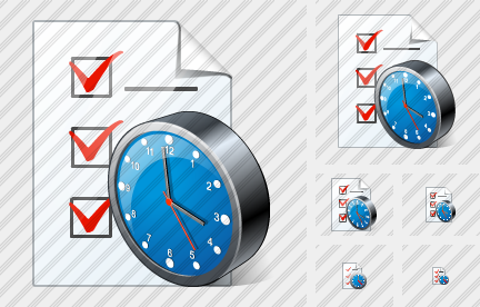 Document Task Clock Symbol