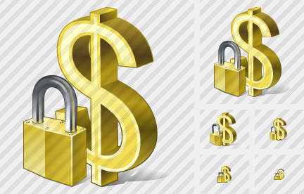 Dollar Locked Icon