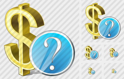 Dollar Question Icon
