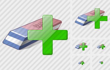 Eraser Add Icon