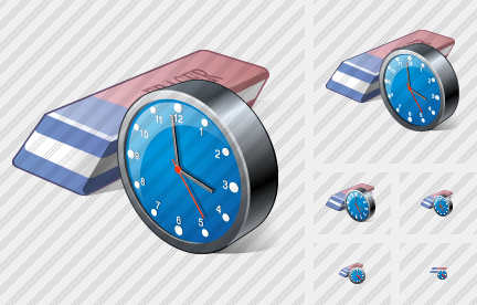 Eraser Clock Icon