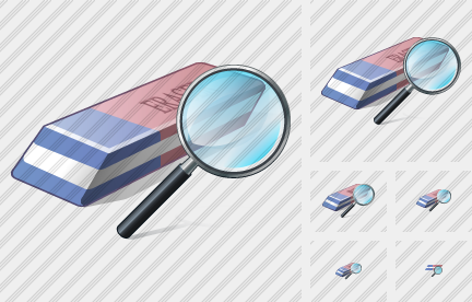 Eraser Search 2 Icon