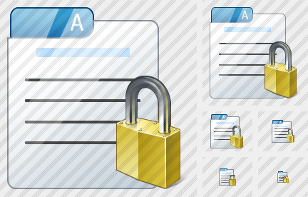 File Card Locked Icon