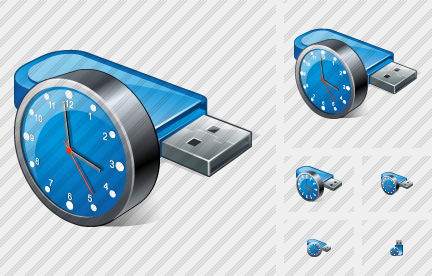 Icône Flash Drive Clock