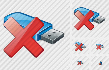 Flash Drive Delete Symbol