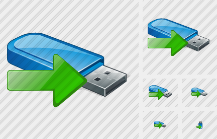 Flash Drive Export Icon