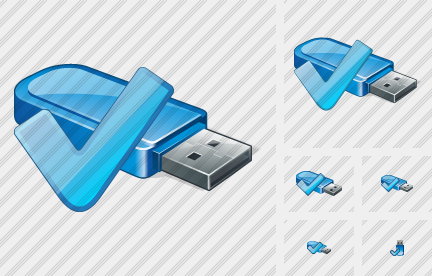 Flash Drive Ok Icon