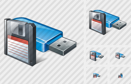 Flash Drive Save Icon