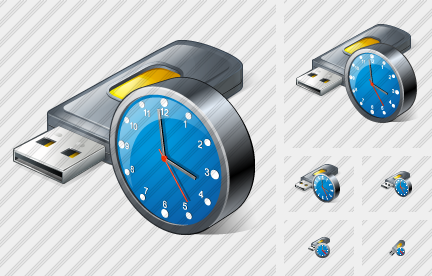 Flash Drive2 Clock Symbol