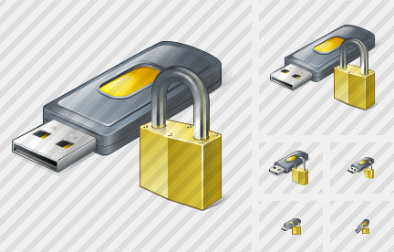 Flash Drive2 Locked Icon