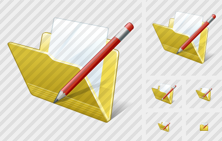 Folder Document Edit Icon